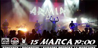 Armia / Crue - 15 marca Potok Warszawa